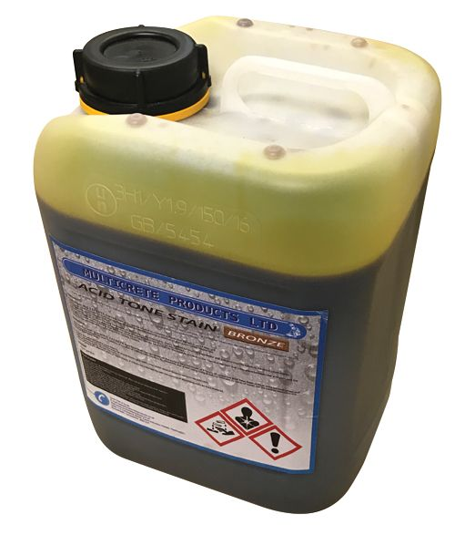 Acid Tone Stain - Bronze (5L) For Pattern Imprinted Concrete