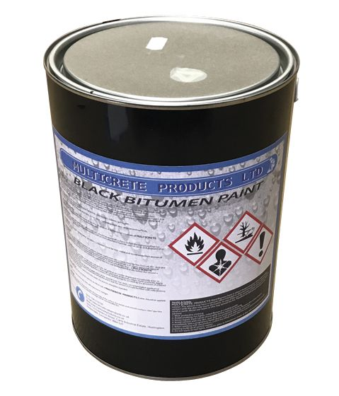 Black Bitumen Paint 5 or 25L