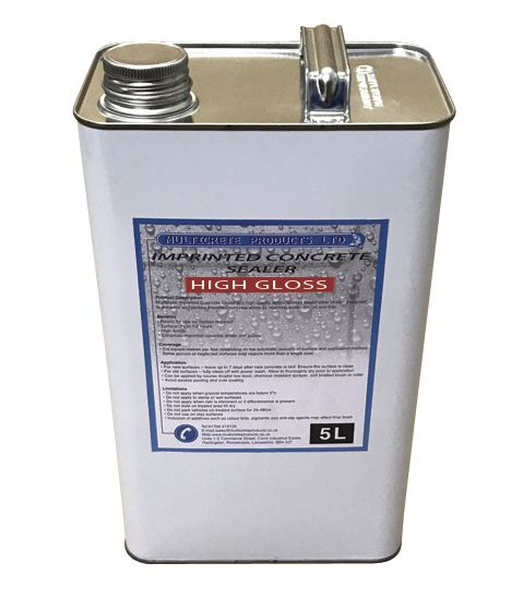 Pattern Imprinted Concrete Sealer - High Solid Gloss (5Ltr)