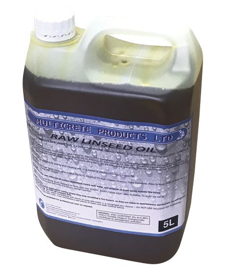 Raw Linseed Oil 1, 2.5 or 5L
